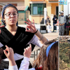 students teaching and sightseeing in Spain.