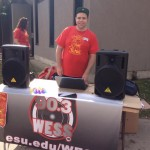 DJ Bear working Music at ESU's Weiner Day