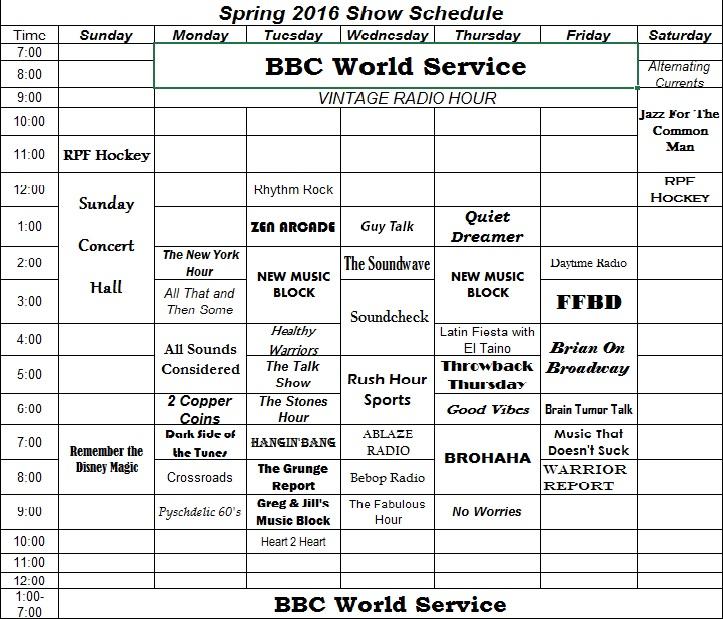 WESS Schedule