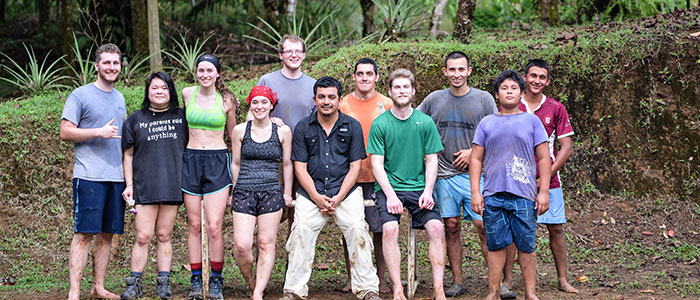 A group of students and staff from the El Zota field station in Costa Rica