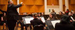Brian Hodge conducting the ESU Concert Band