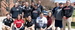 Students from ESU's Sport Management Club