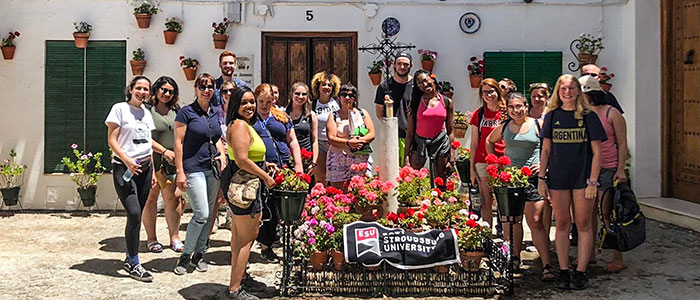 East Stroudsburg University students study abroad in Spain.