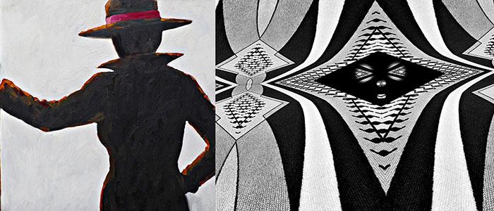 White & Black Jill & Jack painting